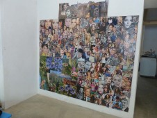 People Looking at You, May 2013, mixed media on wood, 1 m 90 cm high x 2 m wide