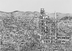 Rubble Series: Japan I, 2014 graphite on paper, 42 cm x 59.4 cm