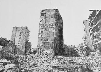 Lebanon II, 2014, graphite on paper 100 cm x 80 cm