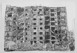 Saudi Arabia, 2014, graphite on paper, 100 cm x 150 cm