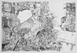 Syria I, 2014, graphite on paper, 100 cm x 145 cm