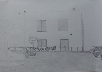 Silicon Valley Series: #1, 2014, graphite on paper, 42 cm x 59 cm
