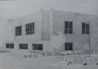 Silicon Valley Series: #4, 2014, graphite on a paper, 42 x 59.4