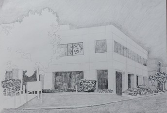 Silicon Valley Series: #5, 2014, graphite on a paper, 42 x 59.4