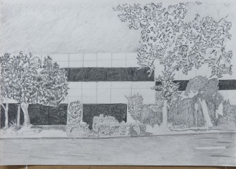 Silicon Valley Series: #6, 2014, graphite on a paper, 42 x 59.4 cm