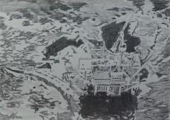 1969 Santa Barbara, 2015 graphite on paper, 42 x 59.4