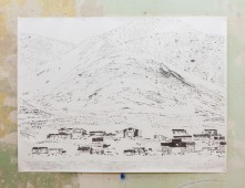 Siorapaluk, Greenland, 2015, graphite on paper, 200 x 150 cm