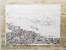 Panama Canal, 2015, graphite on paper, 150 cm x 200 cm