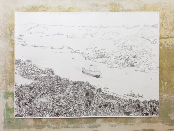 Panama Canal, 2015, graphite on paper, 150 cm x 200 cm