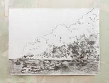 Oil Fire, Kuwait, 2015, graphite on paper, 150 cm x 200 cm