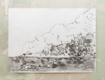 Oil Fire, Kuwait, 2015, graphite on paper, 150 cm x 200 cm