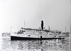Boat Series: SS President Warfield, ink on paper, 100 cm x 70 cm