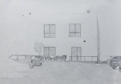 Silicon Valley Series #1, 2014 graphite on paper, 42 cm x 59 cm