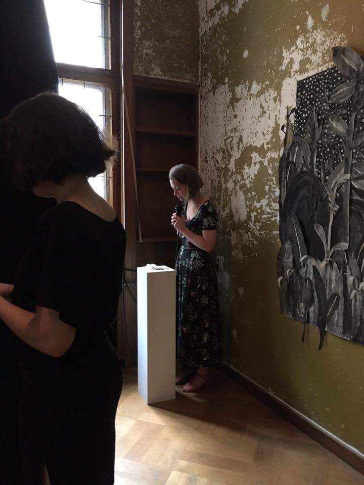 artist Katie Armstrong during her performance at Know the Ways