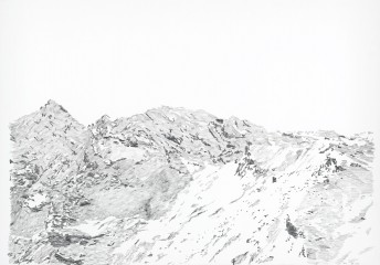 Alps #10, 2016, graphite on paper, 70 x 100 cm