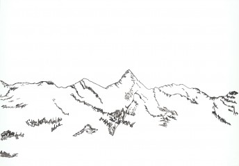 Alps #7, 2016, ink on paper, 70 x 100 cm