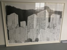 Plattenbau Romantik, 2017 graphite on paper, 226 x 168 cm