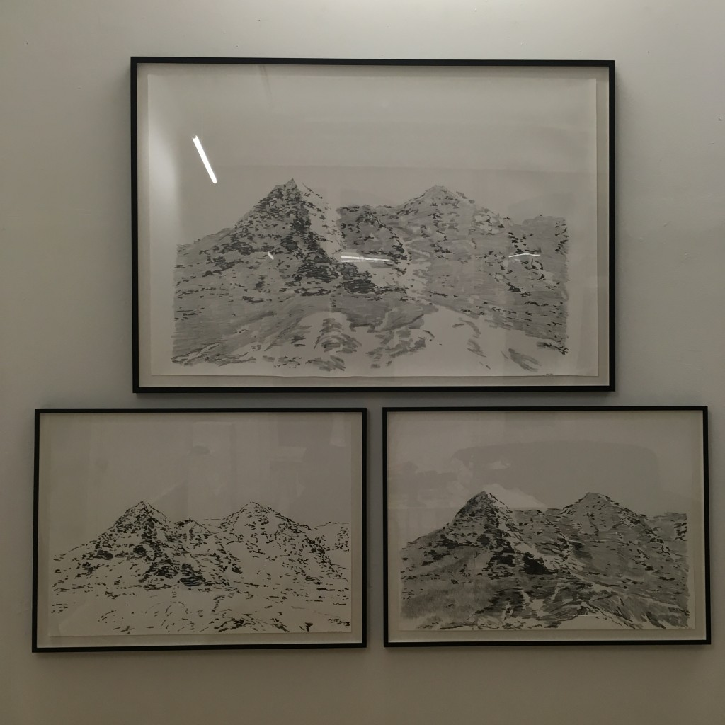 selection of drawings from my Vor den Alpen series